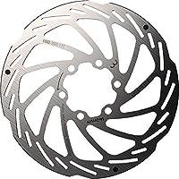BBB 迪斯克洛特 自行车刹车零件 POWERSTOP(强力顶部) 碟盘制动转子 不锈钢制 6孔 附带安装螺栓 银色