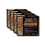 Junkless Chewy Granola Bars, Cinnamon Roll, Non-GMO, low sugar, great tasting, 1.1 oz, 6 Bars (4 Count)