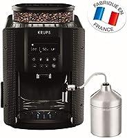 Krups 全自动咖啡机(1.8 升,15 巴,LC 显示屏,自动卡布奇诺制作系统 ) 黑色