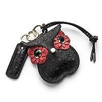 SEMPHIALE 奔驰宝马路虎保时捷奥迪汽车钥匙包可爱真皮车用钥匙包车钥匙套女 (马士革珐琅红)
