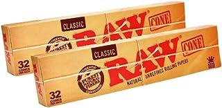 RAW 18616 Classic Pre-Rolled Cones King 尺寸 - 2 x 32 件 - 109 毫米 - Basic 64,纸张