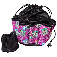 ABS Novelties I Love Bingo 粉色图案 10 袋手提包,黑色