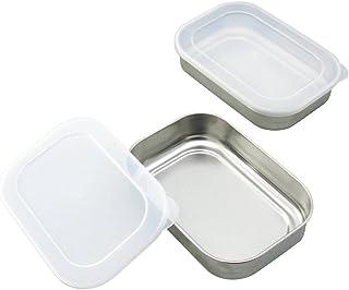 下村企贩 不锈钢制 带盖子 密封罐 储存罐 不锈钢 ふた付 2個組 35334