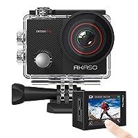 AKASO EK7000 Pro 4K 操作相机带触摸屏 EIS 可调视角 40m 防水摄像机遥控运动相机带头盔配件套件