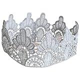 BB王冠 花边 无薄纱 银色