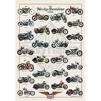 海报 英国 哈雷戴维森 - 传奇 - MAXI 层压/压缩海报 - 约 36 x 24 英寸 (91.5 x 61cm)