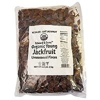Edward & Sons Organic Vegan Meatless Alternative Young Jackfruit Unseasoned Pieces 4.4 Pound
