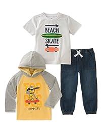 Kids HEADQUARTERS 婴儿男孩3件裤子套装