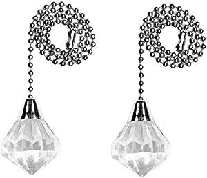 Westinghouse 亚克力钻石拉链 银色 2 件装 7728900