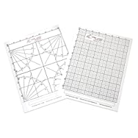 "Freehand Designer ""US""字母尺寸 1 x Protractor Sheet, 1 x Grid Sheet"