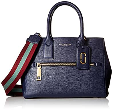 Marc Jacobs Gotham Tote Bag Midnight Blue/Vino/Multi Webbing Strap One Size