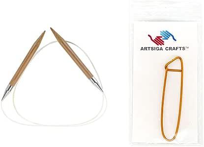 chiaogoo 33cm ( 厘米 ) 固定圆形竹 Dark patina 织针带1个 artsiga CRAFTS stitch 支架