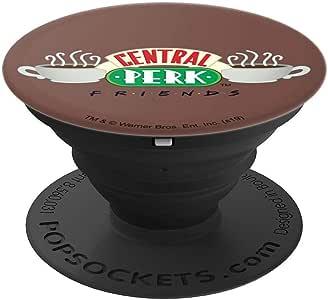 Friends Central Perk 徽标 PopSockets 手机和平板电脑抓握支架260027  黑色
