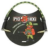 Pig Hog PCH10AGR 放大器 右角 0.635 cm 到 0.64 cm 吉他乐器电缆,3.05 mPCH1CFR