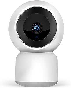 1080P WiFi 无线* IP 摄像机   2 路通话,2MP 高清夜视,运动检测,2.4 GHz 室内 PTZ 水平 350 度,垂直 90 度,监控婴儿、宠物、家用