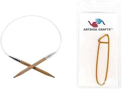 chiaogoo cm 41CM ) 固定圆形竹 Dark patina 织针带1个 artsiga CRAFTS stitch 支架