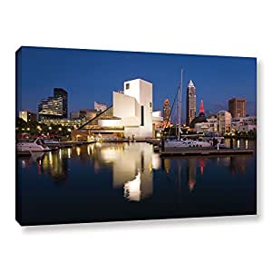 """ArtWall Cody York's Cleveland Skyline 3 Gallery Wrapped Canvas, 24 by 36"""""""