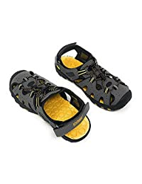 Khombu 儿童运动男孩灰色运动凉鞋(1)