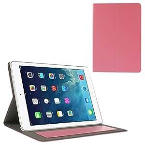JUJEO POMOSER 智能皮革保护套带支架和卡包适用于 iPad Air - 粉色 (IPAD5-2201D)