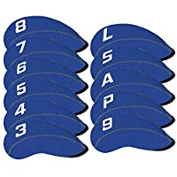Craftsman 高尔夫 11 件/套氯丁橡胶铁头套套装带大号号适合所有 Callaway 品牌、Ping、Taylormade、Cobra 等。