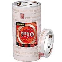 3M スリーエム スコッチ 超透明テープS 10巻 工業用包装 18mm×35m 芯76mm BK-18N