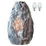 Himalayan Glow 17031 Gray Naked Salt lamp Best as Night light (3-5 lbs), 需配变压器