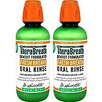 TheraBreath美國凱斯博士清新口氣漱口水 溫和薄荷味 16盎司(2件裝)