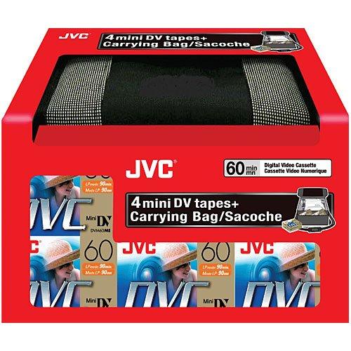 JVC MDV60DU4CB KITカメラバッグと4 DVテープ