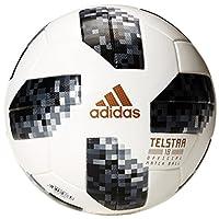 【2018世界杯Telstar 世界杯A级认证专用球 CE8083 】 adidas 阿迪达斯 2018世界杯足球 白/黑/银金属 5 CE8083 (直径:21.5 cm)