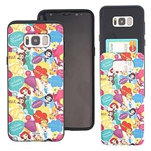 Galaxy S7 Case DISNEY Princess Slim Slider Cover : Card Slot Shock Absorption Dual Layer Holder Bumper for [ Galaxy S7 (5.1inch) ] Case - Cute Pattern Princess