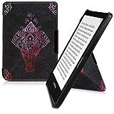 kwmobile Origami 保护套适用于 Pocketbook Touch Lux 4/Basic Lux 2/Touch HD 3 - 超薄款高级 PU 皮套带支架 - 深粉色/无烟煤色46773.01_m000408 .Elephant Sketch dark pink/anthracite