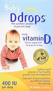 Ddrops Baby 400 IU Vitamin D3滴剂 90滴2.5ml