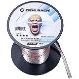 Oehlbach Silverline SP 不锈钢迷你卷轴扬声器电缆镀银涂层 2 x 1.5 mm2 透明180 10 m
