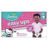 Pampers Easy Ups Training Underwear Girls 3T-4T (Size 5), 72 Count 4T-5T (Size 6), 120 Count 4T-5T (Size 6) 120
