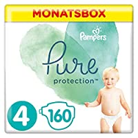 Pampers 幫寶適 Pure Protection 覆蓋 多種顏色 Monatsbox Gr. 4 160