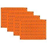 Pegboard Wall Organizer 瓷砖 - 墙壁控制模块化金属钉板瓷砖套装 - 四个 12 英寸高 x 16 英寸宽的木栓板板墙纸存储瓷砖 - 易于安装 橙色 PEG-BOARD-1264 OR
