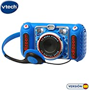 VTech 伟易达 KIDIZOOM Duo DX 1 蓝色数码相机带10种不同功能(3480-520022)