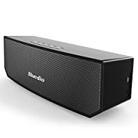 Bluedio BS-3 (骆驼) 便携式蓝牙音箱 革命性的3D钕磁铁结构/超大的52mm 驱动单元/丰富低音效果的无线音响/业界出色的3D立体声场景音效 礼品级零售包装(黑色)