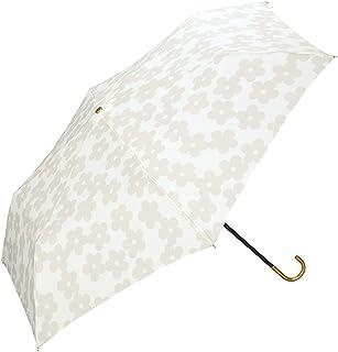 w.p.c World Party 世界派对 475-018 女士花边折叠伞,带迷你花花伞袋,米白色,50厘米