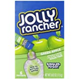 Jolly Rancher Singles to Go Water Drink Mix, Green Apple Flavored Powder Sticks, (12 Boxes with 6 Packets Each – 72 Total Servings)
