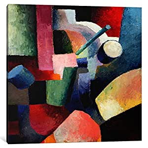 iCanvasART 8005-1PC6-18x18 Colored Composition of Forms Canvas Print by August Macke, 1.5 x 18 x 18-Inch