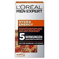 L'Oreal 欧莱雅 男士 劲能醒肤露 24小时抗*,含瓜拿纳和维生素 C,2件装(2 x 50毫升)