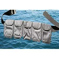 AKM-Scuba 潜水口袋重量带中号(黑色 5 个口袋)