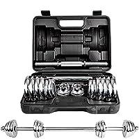 DDS 多德士 电镀哑铃15kg20公斤 男士健身器材家用 可自由拆装组合