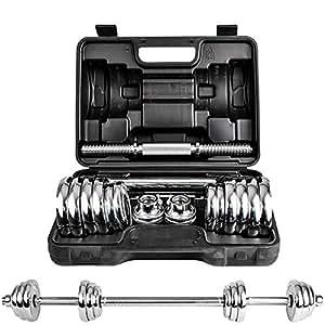 DDS 多德士 电镀哑铃20kg20公斤 男士健身器材家用 可自由拆装组合