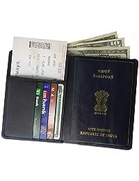 AurDo RFID 屏蔽真皮护照夹手机壳和旅行钱包男女皆宜
