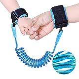 Saygogo 防丢失腕扣,儿童户外*钩环带弹性坚固灵活适合幼儿、婴儿和儿童,1 包(长 1.5 米),蓝色