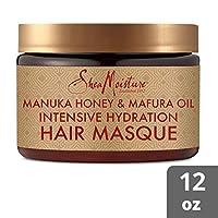SheaMoisture 麦卢卡蜂蜜和马拉福油保湿深层面膜*护理,12 盎司