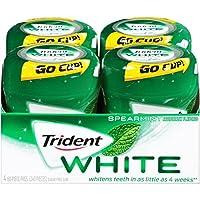 Trident White Sugar Free Gum (Spearmint, 60 Piece, 4 Pack)