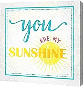 "PrintArt GW-POD-48-JP4745-12x12 ""You Are My Sunshine"" by Jennifer Pugh Gallery Wrapped Giclee Canvas Art Print, 12"" x 12"""